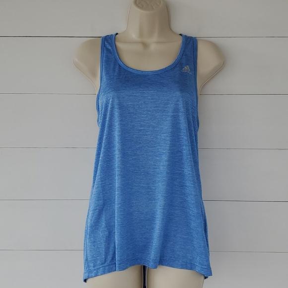 ADIDAS Blue with Blue Stripes Tank Top Size Medium